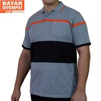[Big Size M-XXL] KAOS KERAH SALUR/STRIPE POLO SHIRT/BAJU PRIA M-178 - M