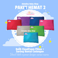 Baby CloudFoam Paket Hemat - CloudFoam Pillow + Sarung Bantal Cadangan