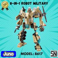 Mainan Bricks / Block 8-in-1 Military Robot Compatible LEGO| Juno 8617