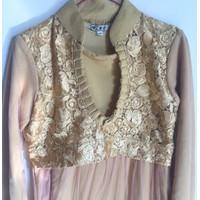 Preloved Baju Kondangan dress gamis pesta gold