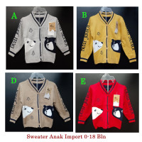 Sweater Rajut Jaket Baju Hangat Anak Bayi Import Baby Boy