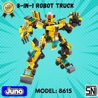 Mainan Bricks / Blocks 8-in-1 Truck Robot Compatible LEGO | Juno 8615