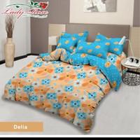 bed cover lady rose sprei karet no2 uk 160x200 motif Delia