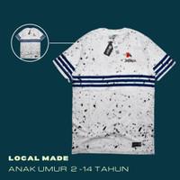 Kaos Anak Original Keren Umur 2-14 Tahun Biru Putih Trendy - 0189 KIDS, 2-3 tahun
