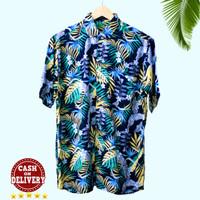 Baju Kemeja Pria motif bunga surfing Bahan Premium pantai bali