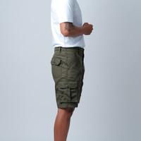 HIKEY | Short Cargo Pants | Ripstop| Green Army | Celana Kargo Pendek