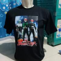 kaos t shirt baju big size keren SATRIA BAJA HITAM JEPANG