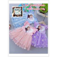 Dress anak Perempuan Gaun Pesta Dress Tutu Import Frozen Elegan