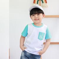 Lily And Clark Baju Anak Lak-Laki Putih Salur Biru KLC 27 - XS