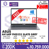 LAPTOP ASUS VIVOBOOK A416EP FHD552 I5 1135G7 4GB 512GB SSD WIN 10+OHS