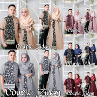 Baju Gamis Couple / Baju Pasangan Muslim / CP Zidan