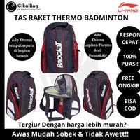 Tas Raket Ransel Badminton Bulutangkis Thermal/Thermo Kualitas Import