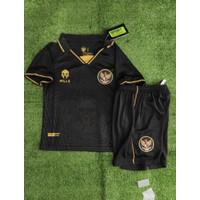 Jersey Baju Bola Anak Kids Indonesia 3rd Hitam 2020-2021 Grade Ori