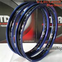 Velg Motor VELG TDR 2 tone WX 1.40&1.60 Ring 14 Blue/Black