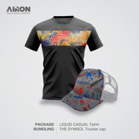 Kaos Liquid Casual Pria-Trucker Cap AIRON keren & stylish - S
