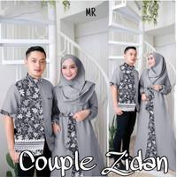 Baju Gamis Couple / Baju Pasangan Muslim / CP Zidan - Abu-abu