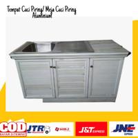 meja cuci piring / tempat cuci piring aluminium /tempat cuci piring