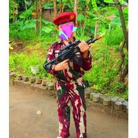 LORENG KOPASSUS ANAK KOMPLIT PISTOL MAINAN BAJU PROFESI TNI AD - S