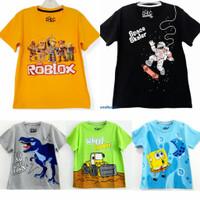 Kaos baju anak laki laki size 1 2 3 4 5 6 7 8 9 10 tahun