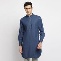 Baju Kurta Pakistan Koko Nadeem - Denim Cotton Premium Pria Toraformen