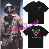 Baju Tshirt BTS Jungkook Lamodechiefly logo kupu kupu depan belakang