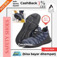 Sepatu Safety shoes sporty ringan nyaman navy reflektor 11