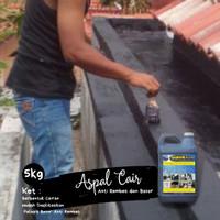 Aspal Cair Waterproofing / Anti Bocor Kolam Ikan Lantai Atap Dak 5 KG