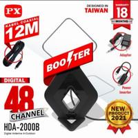 Antena digital TV analog DVB-T2 4k hight gain 25Db- PX HDA 2000B