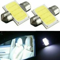 Lampu LED plafon kabin accesories mobil 32MM White aksesoris