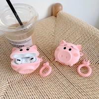 AIRPODS CASE PRO 3 BABI PINK PIG LUCU MURAH CASING RUBBER PELINDUNG