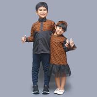 Dress dan kemeja lengan panjang batik anak /couple baju seri cempaka