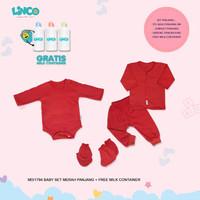 LINCO Setelan Baju Bayi Red Series Baby Newborn 0-3 Bulan 1794