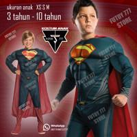 Baju kostum anak Superman Super Man Superhero Super Hero ulang tahun