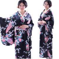 KIBU baju tradisional jepang kimono yukata high quality satin cosplay