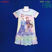 (DABG22D) Daster Anak Frozen II Beautiful Dream Usia 9-12 Thn