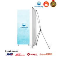 X Banner Alumunium 60x160 cm Standing Banner Alumunium Hitam