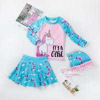 Baju Renang Anak Perempuan premium import + topi - M