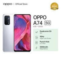 OPPO A74 5G Smartphone 6GB/128GB (Garansi Resmi) - Abu-abu