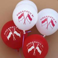 Balon Latex Karet Dirgahayu RI / HUT RI Merah Putih