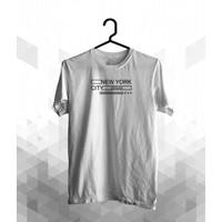 Jelove - Kaos Distro / Tshirt Pria Wanita/New York City - J131 - S, Putih