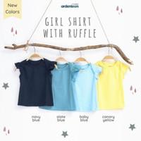 Ardenleon Girl Shirt with Ruffle baju pergi main tidur anak perempuan