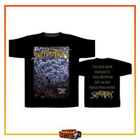 Kaos Tshirt Baju Import Band SUFFOCATION Razamataz Pierced From Within - M