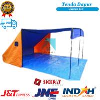 Tenda Dapur Lapangan / Tenda Dapur Pramuka 3x3 Bahan Dakota (Bisa COD)