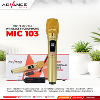 Mic Wireless Advance 103 Microphone 103 Mic Tanpa Kabel