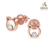 Anting Berlian Desain Teddy Bear Swan Jewellery IMER893039