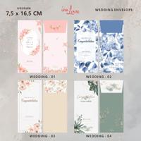 12 pcs Amplop Kondangan Angpau Nikahan Angpao Wedding Envelope Gadina - Wedding - 01