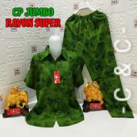 Baju Tidur Wanita Piyama Jumbo Katun Rayon Premium Big Size - Rose Pandan