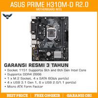 Motherboard Intel Asus Prime H310M-D R2.0 LGA 1151 H310 LPT M.2