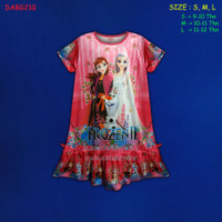 (DABG21G) Daster Anak Frozen Beautiful Dream Usia 9-12 Thn