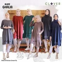 baju tunik wanita lengan panjang blouse kaos ghalia muslim long clv